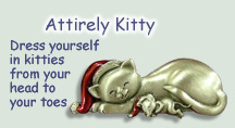 Cat jewelry, pins, barrettes, handbags and apparel